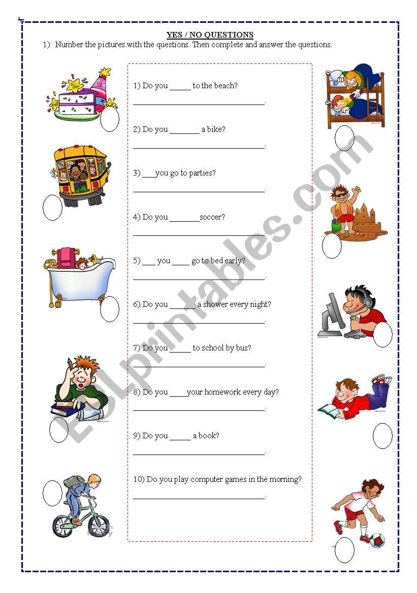 medium resolution of yes/no questions 2/1 - ESL worksheet by noemialejandra