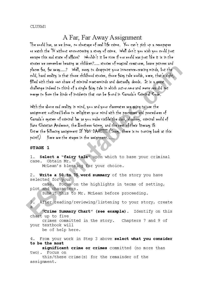 hight resolution of fairy tale crime worksheet