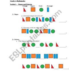 English worksheets: Primary Grade 1 Mathematics [ 1169 x 821 Pixel ]