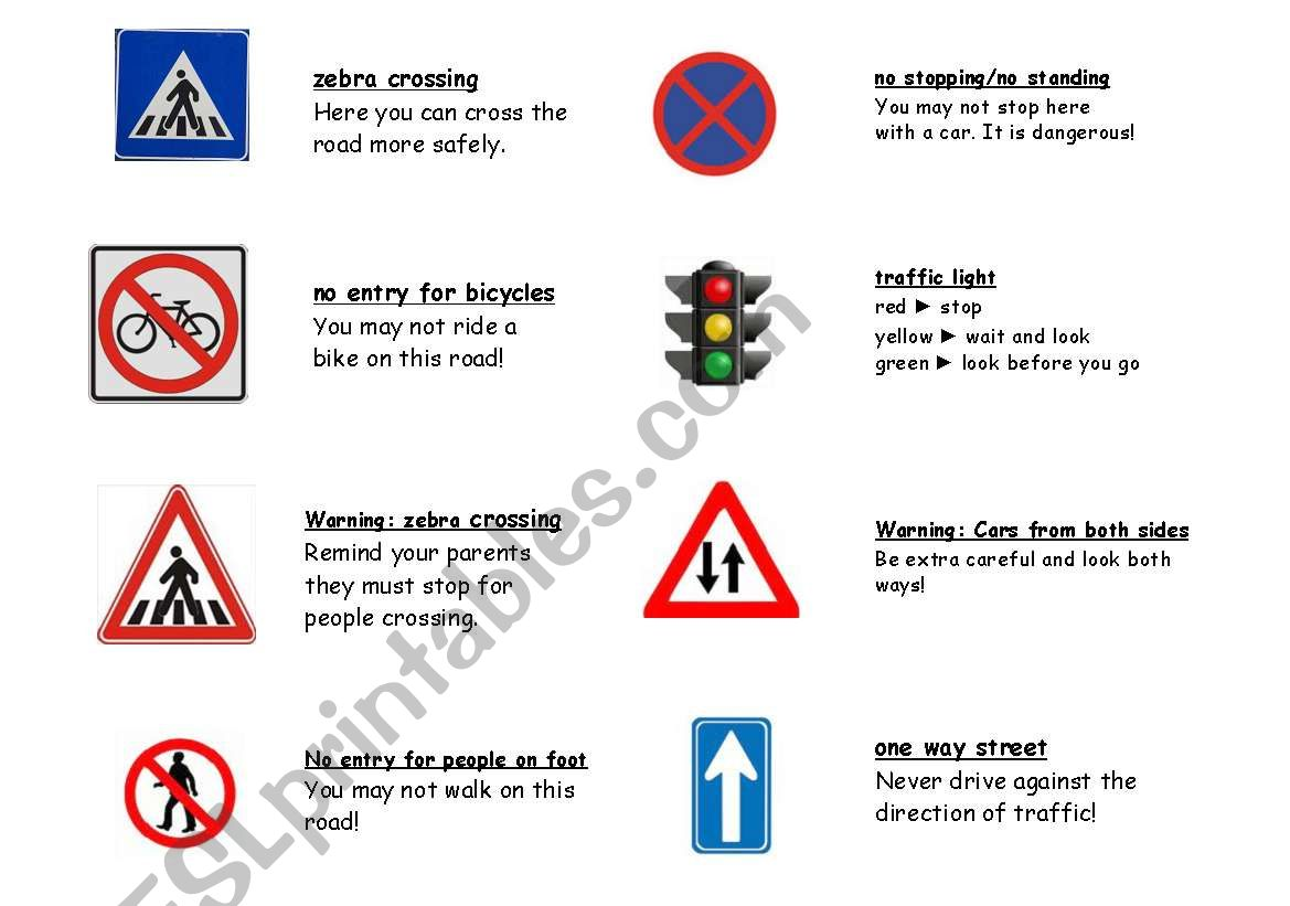 Road Safety Picture Match