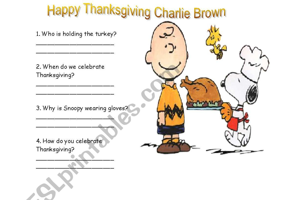 Happy Thanksgiving Charlie Brown
