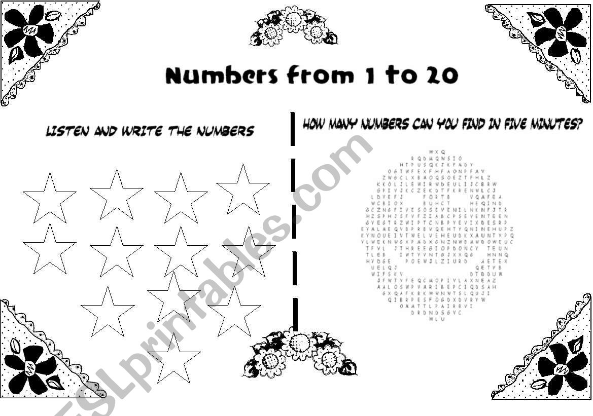Numbers 1 20