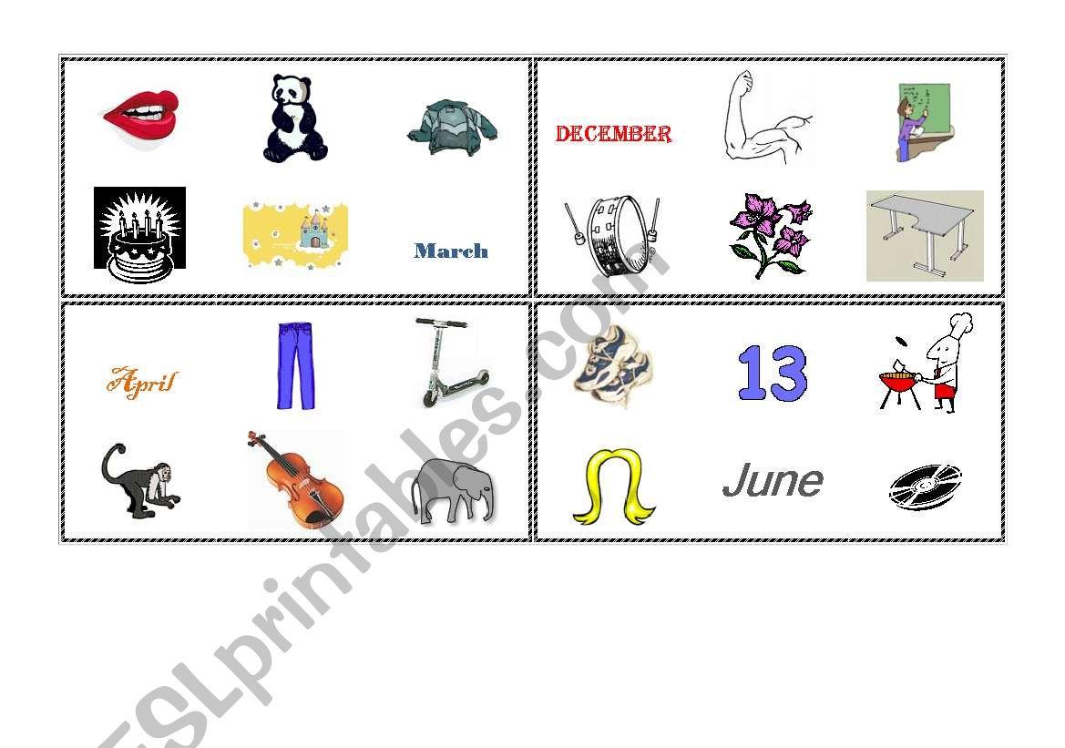 English Worksheets Vovabulary Bingo