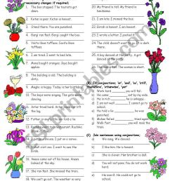 Conjunctions-3 (Editable with Answers) - ESL worksheet by vikral [ 1169 x 821 Pixel ]