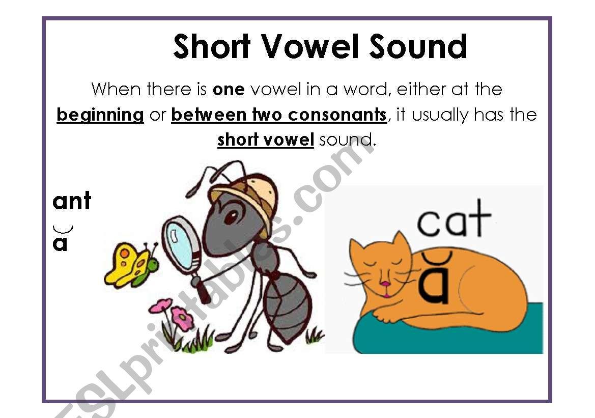 Short Vowel Sound A4 Poster