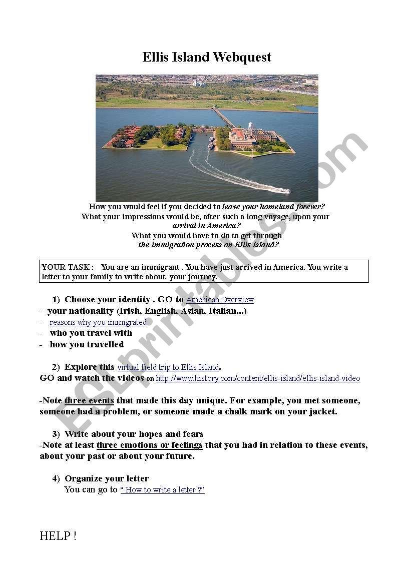 Ellis Island Webquest