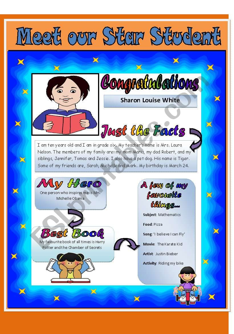 meet our star student reading
