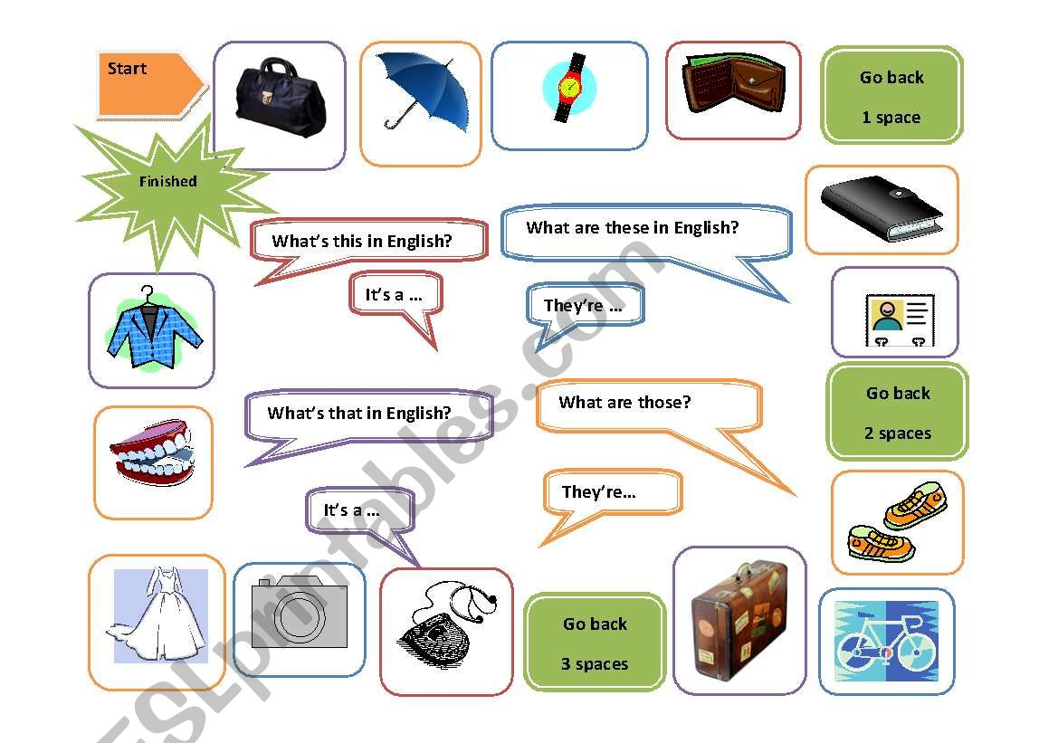 English Worksheets Personal Possessions