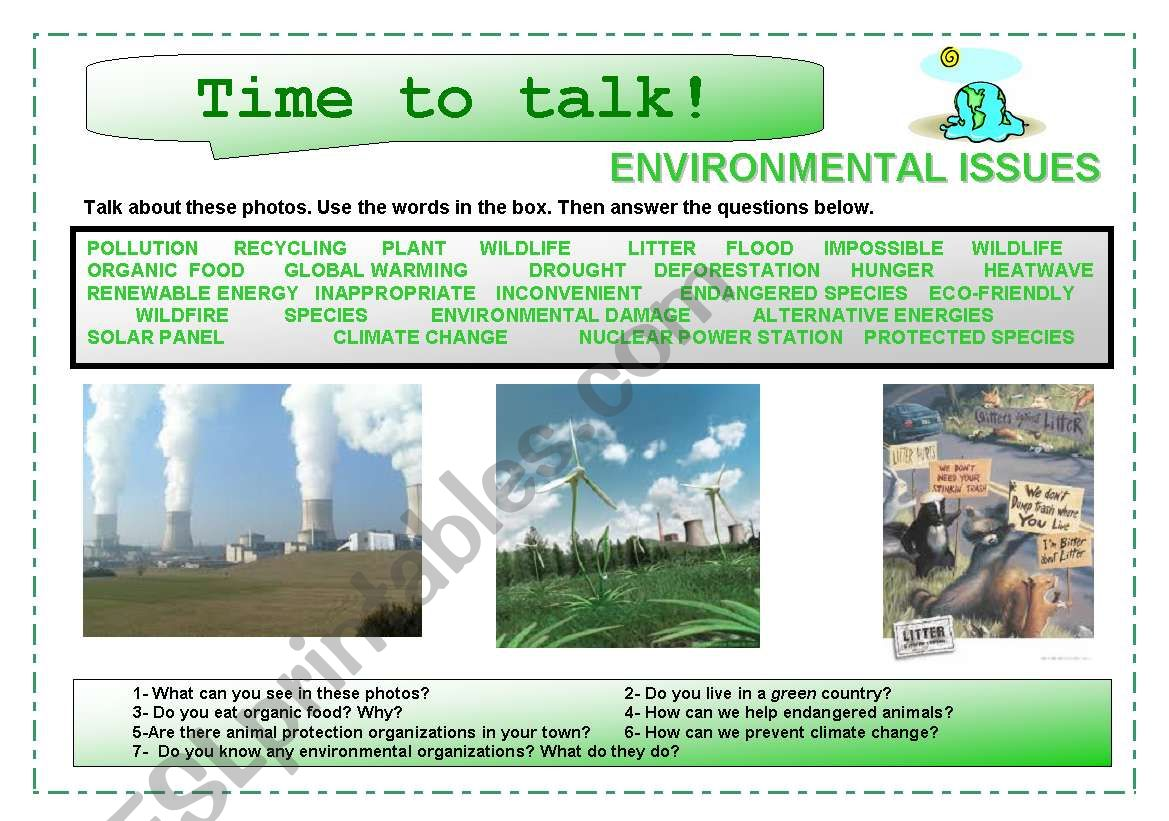 Time To Talk 7 Environmental Issues