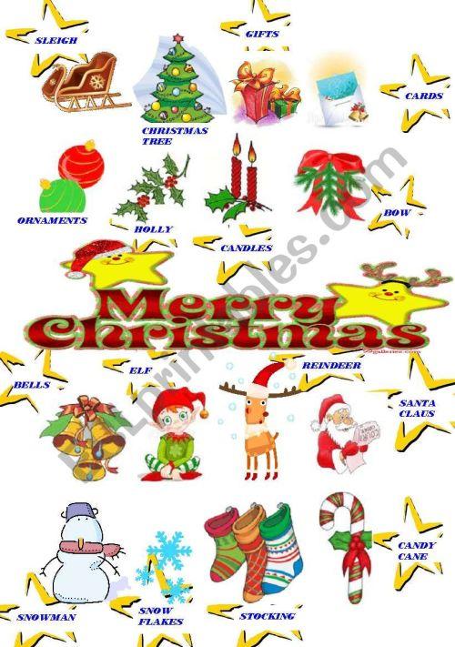 small resolution of CHRISTMAS CLIPART - ESL worksheet by majcek