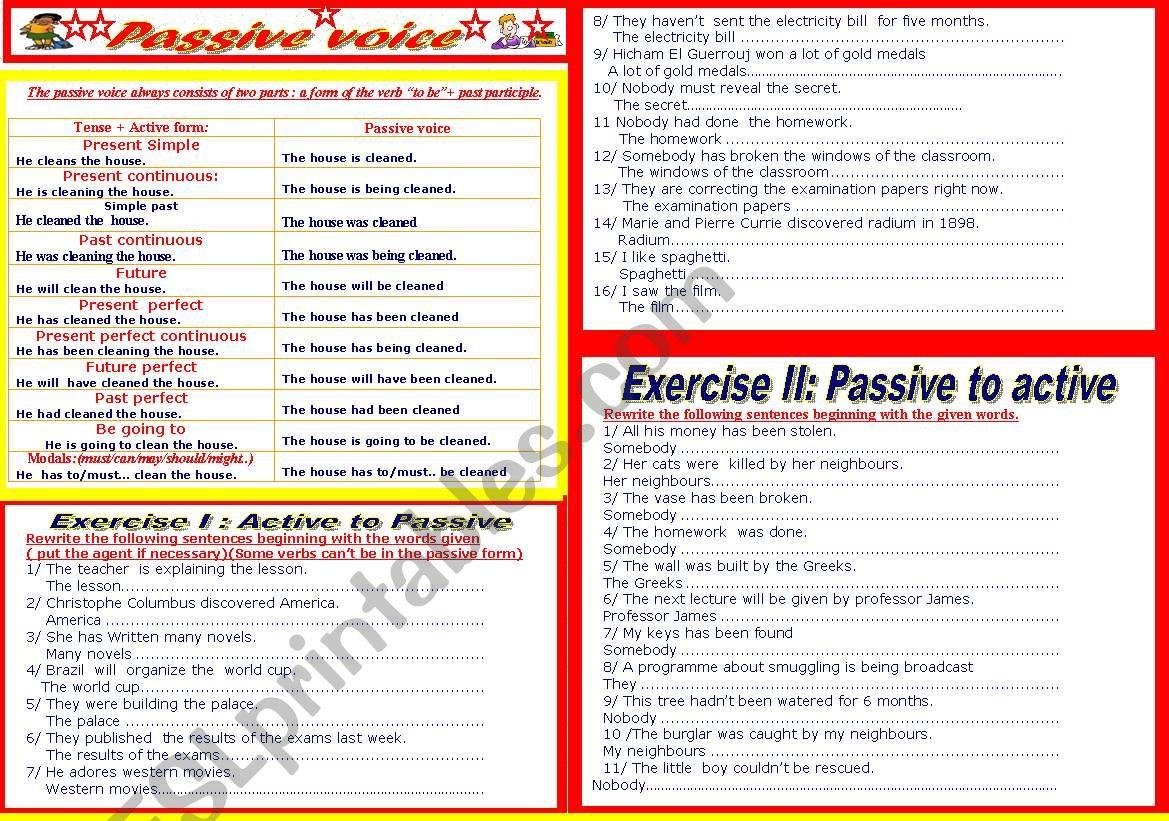 Passive Voice Active Voice Vs Passive Voice