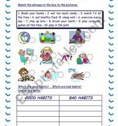 34 Good Habits Vs Bad Habits Worksheet - Free Worksheet Spreadsheet [ 1169 x 821 Pixel ]