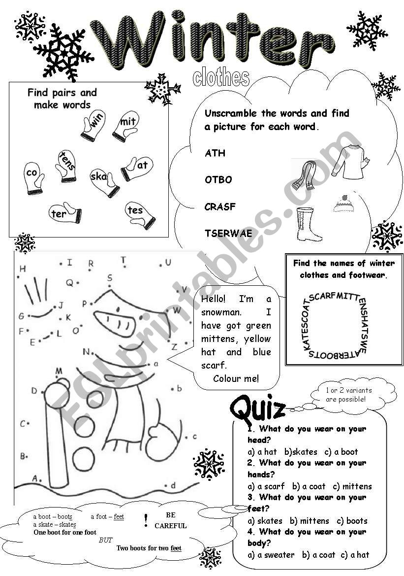 Comfortable Winter Worksheets For Preschoolers The Crafty