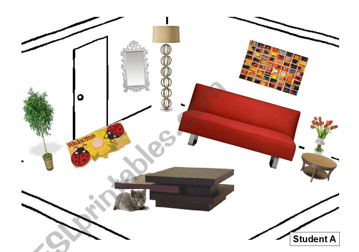 Information Gap There Is Are Furniture Prepositions