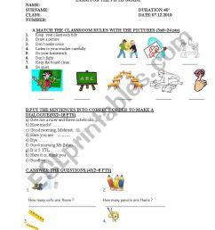 exam for 5th grade students - ESL worksheet by nurkutlu [ 1169 x 821 Pixel ]
