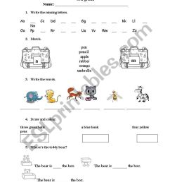 English test for 3rd grade - ESL worksheet by mary_mb [ 1169 x 821 Pixel ]