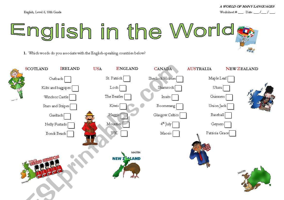 English In The World A World Of Many Languages Unit