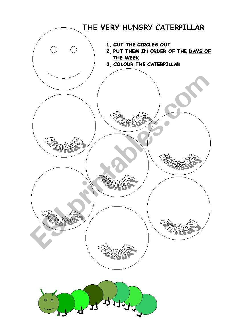 English worksheets: The Hungry Caterpillar