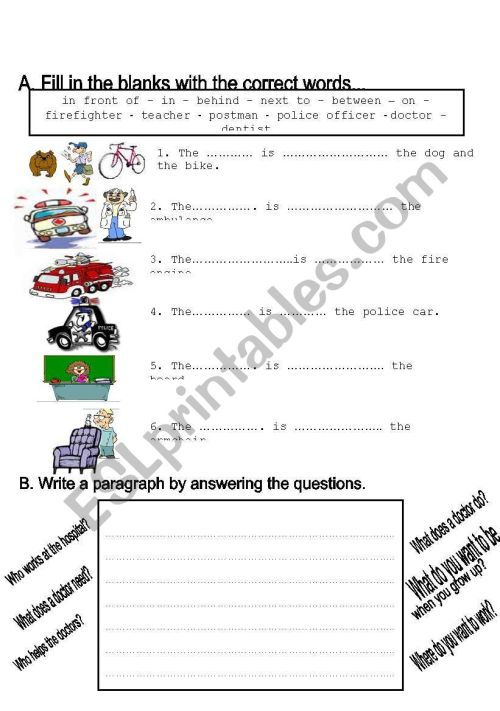 small resolution of jobs worksheet grade 2 - ESL worksheet by toygun