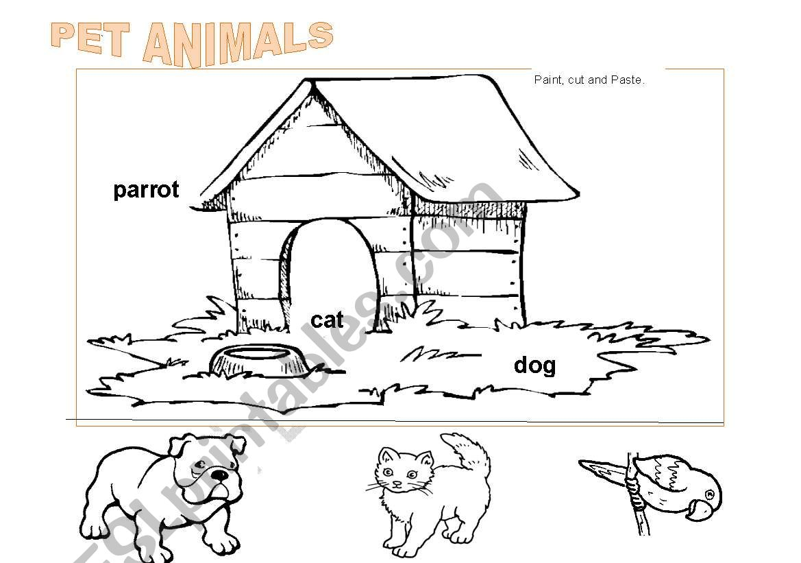 Pet Animals To Color 2