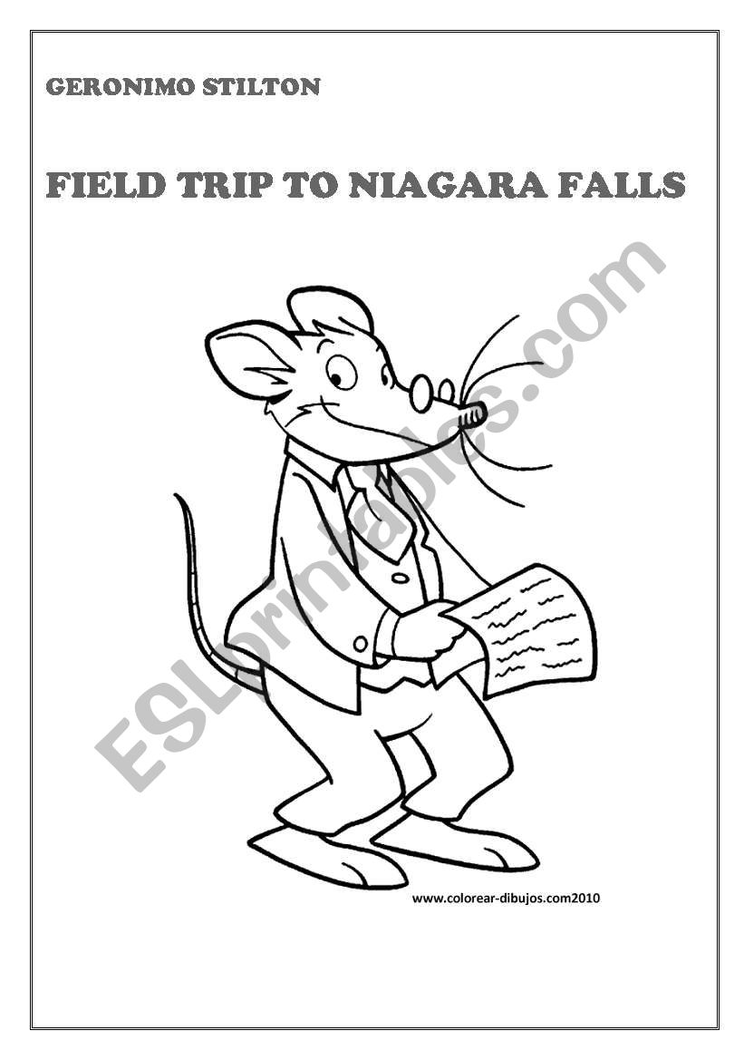 7 worksheets with questions on the book Geronimo Stilton