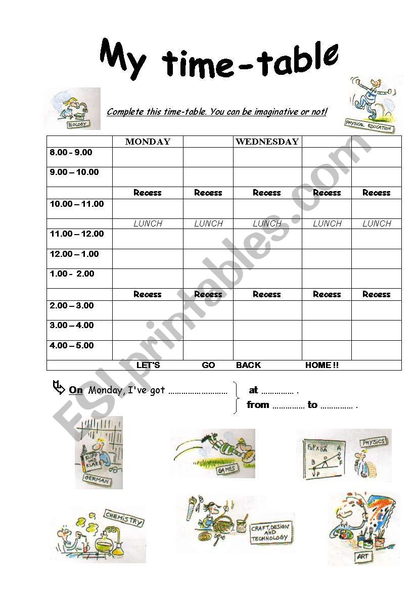 My Time Table