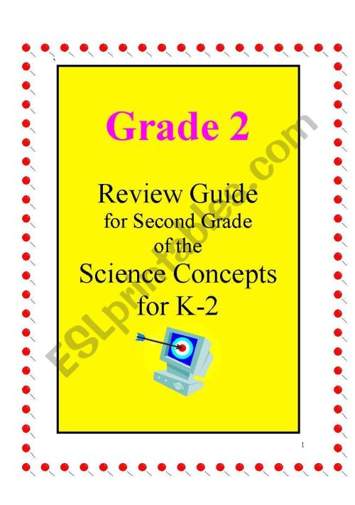 small resolution of Science review guide ( Annual planning for 2nd grade) Includes 28 pages -  ESL worksheet by joseant8a