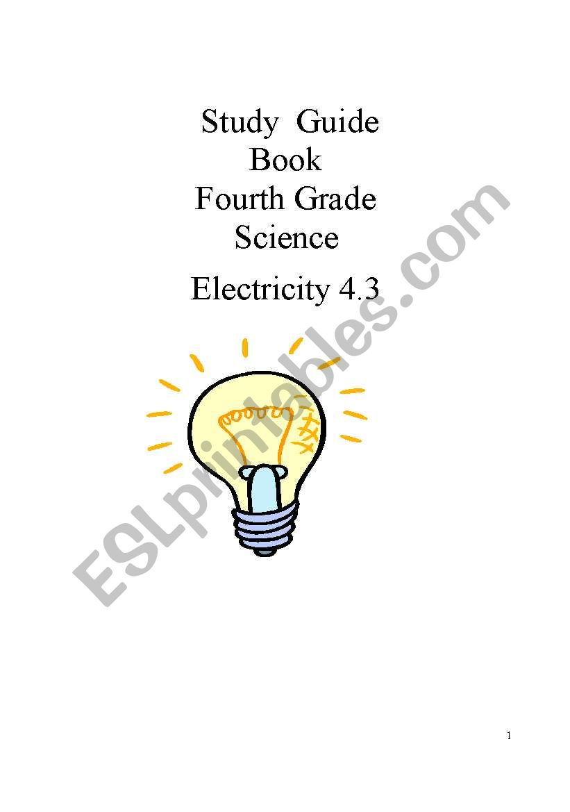 Study guide for Science 4th grade. Electricity. Part 3/8
