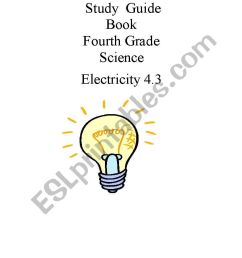 Study guide for Science 4th grade. Electricity. Part 3/8 - ESL worksheet by  joseant8a [ 1169 x 821 Pixel ]