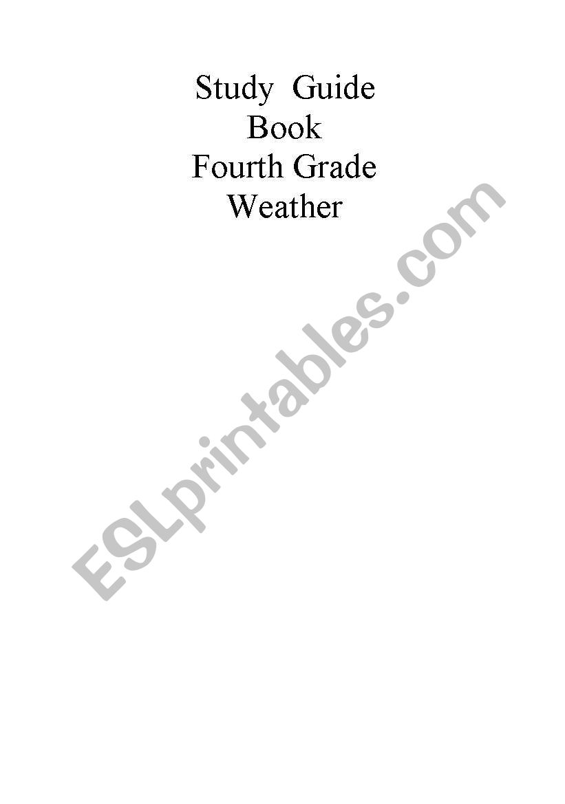 hight resolution of English worksheets: Science Study guide for 4th grade. Weather. Part 5/5  with questions***