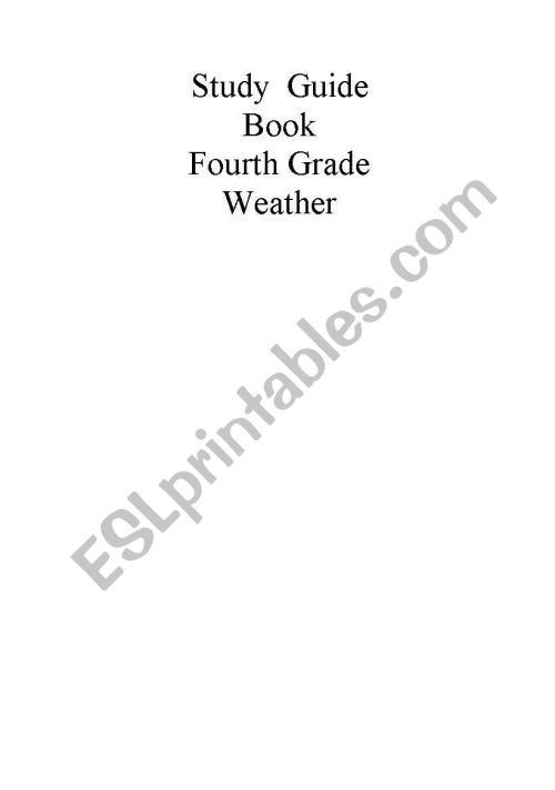 small resolution of English worksheets: Science Study guide for 4th grade. Weather. Part 5/5  with questions***