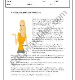 TEST GRADE 7 - ESL worksheet by coasvaf [ 1169 x 821 Pixel ]