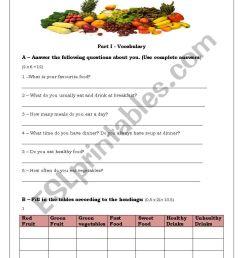 Test about Food - ESL worksheet by tancredo [ 1169 x 821 Pixel ]