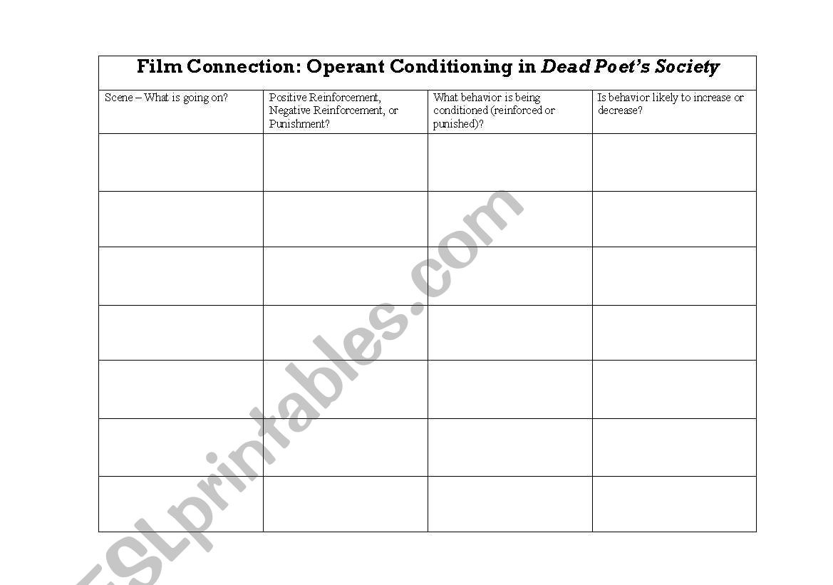 English Worksheets Film Connection