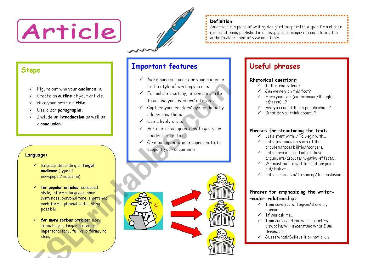 How To Write An Article Examples
