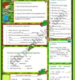 Possessive adjectives vs. possessive pronouns - ESL worksheet by kobe0211 [ 1169 x 821 Pixel ]