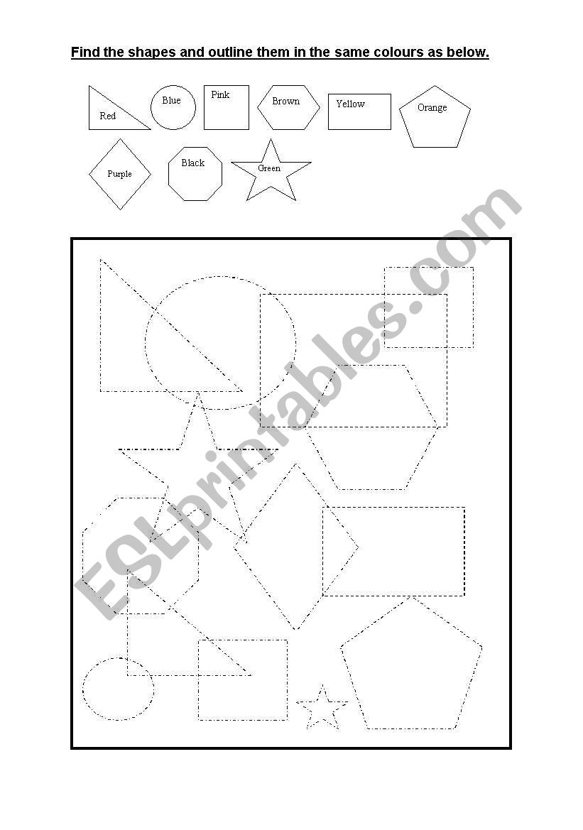 English Worksheets Figure Ground Shape Worksheet