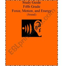 Science Study guide for 5th grade. Force [ 1169 x 821 Pixel ]