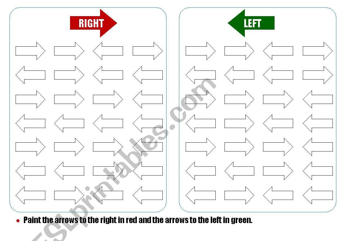 English Worksheets Visual Discrimination Right Amp Left
