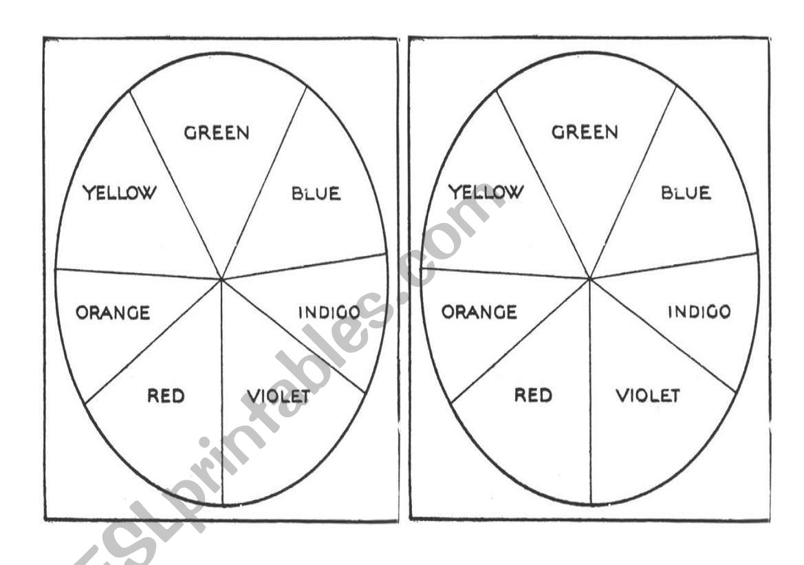 English Worksheets Colour The Newton S Wheel And Make A