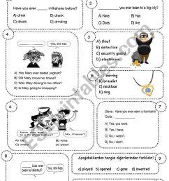 8th grade 2nd term 1st exam (ENGLISH NET 8) - ESL worksheet by sevim-6 [ 1169 x 821 Pixel ]