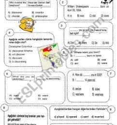 7th grade 2nd term 1st exam (SPRING 7) - ESL worksheet by sevim-6 [ 1169 x 821 Pixel ]
