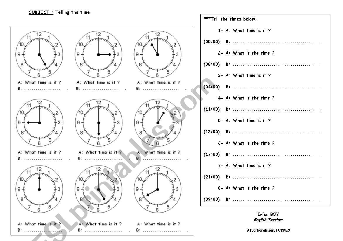 Telling Time With Bothog And Digital Forms