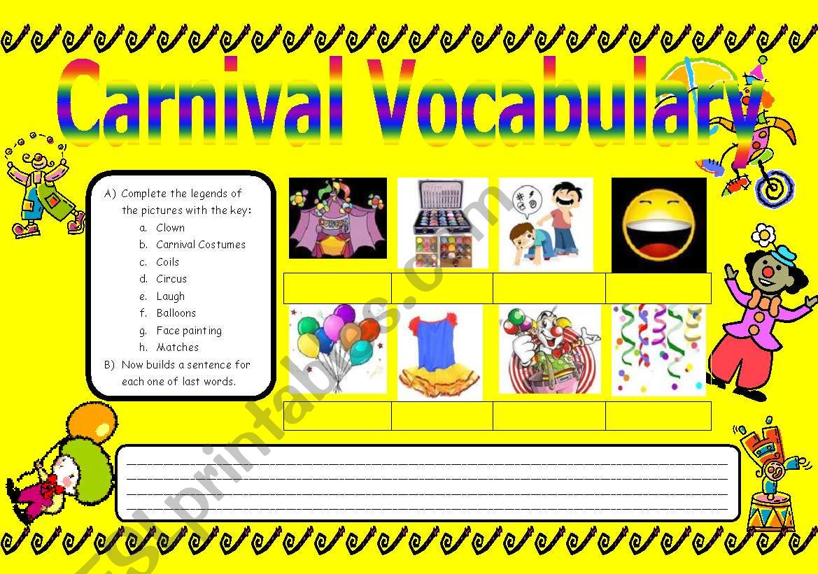 Carnival Vocabulary