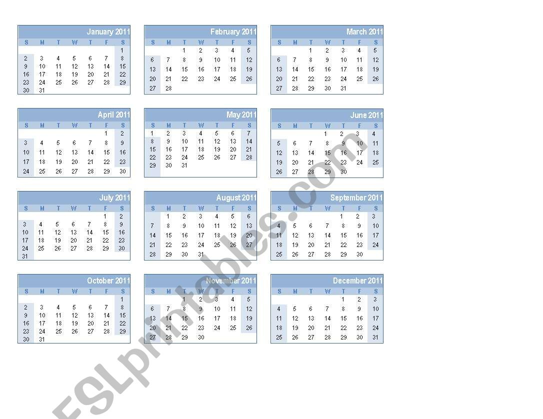 Calendars And Dates