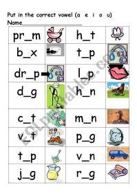 Short vowel sound - ESL worksheet by julie68