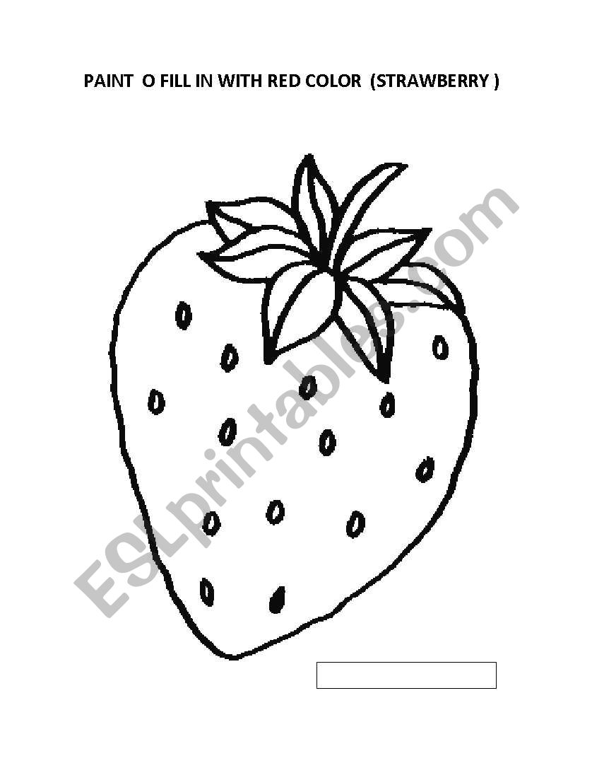 English worksheets: coloring pictures to kinder students