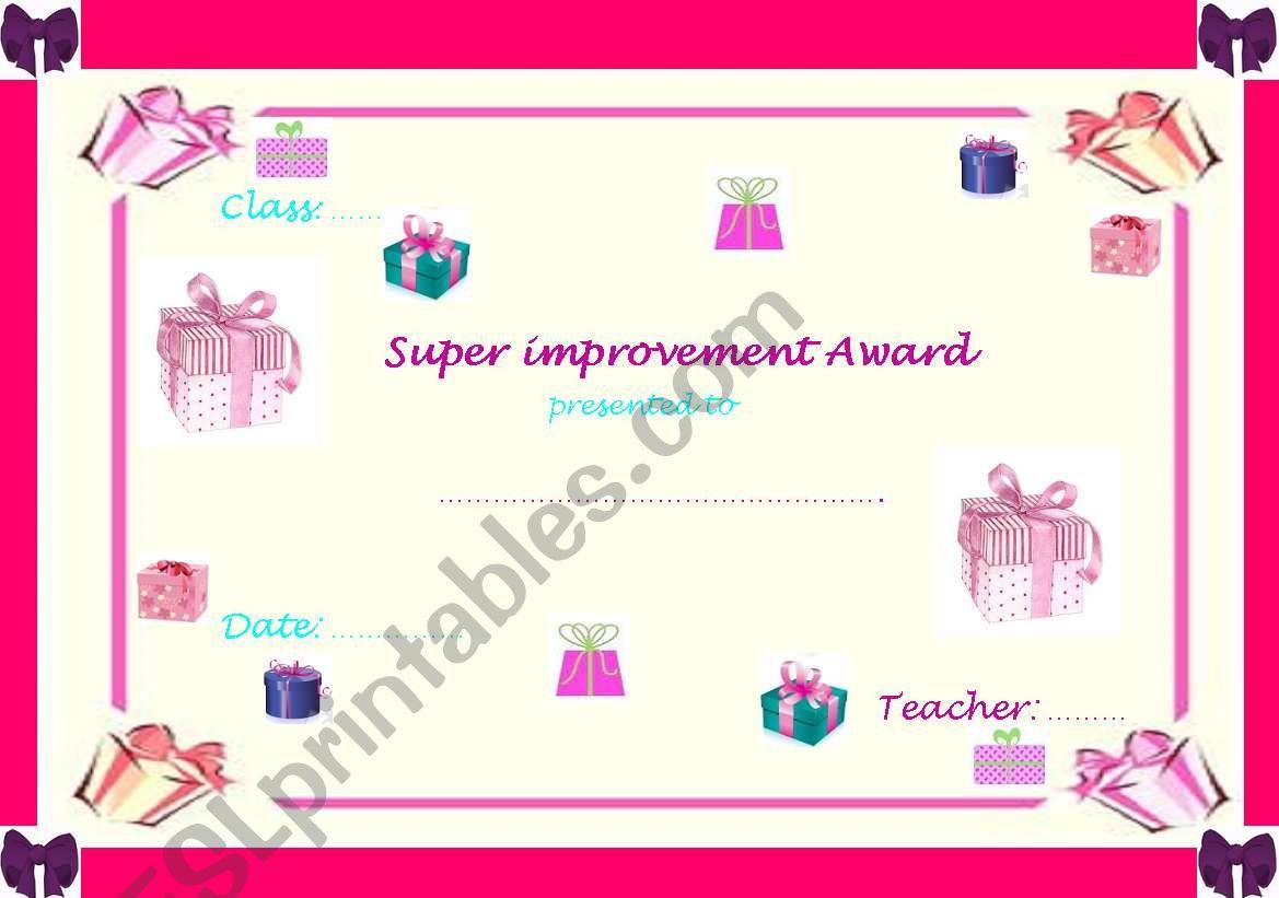 Super Improvement Award