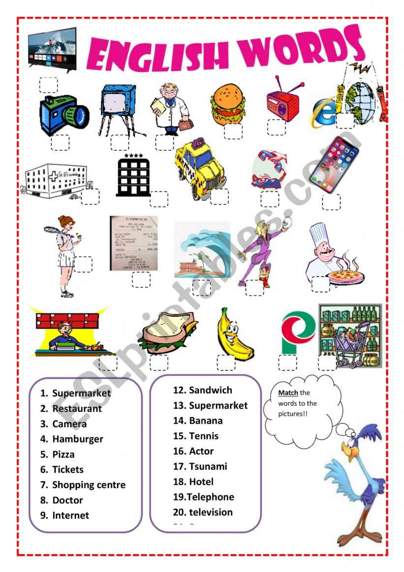 hight resolution of Vocabulary - English Spanish Cognates - ESL worksheet by Pacchy