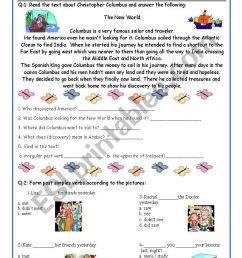 7th Grade Exam (comprehension and Grammar) - ESL worksheet by DeGeneres [ 1169 x 821 Pixel ]